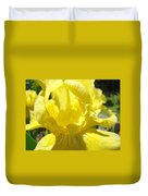 Iris Flower Yellow Macro Close Up Irises 30 Sunlit Iris Art Print Baslee Troutman Duvet Cover