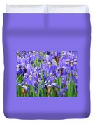Iris Flowers Artwork Purple Irises 9 Botanical Garden Floral Art Baslee Troutman Duvet Cover