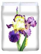 Iris Flowers Watercolor  Duvet Cover