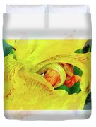 Iris In Abstract Duvet Cover