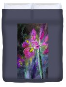 Iris In The Night Duvet Cover