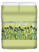 Iris On Parade Duvet Cover
