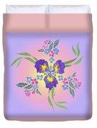 Iris Pinwheel Duvet Cover