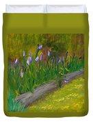 Iris Procession Duvet Cover