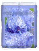 Iris Rainy Day Blue Duvet Cover