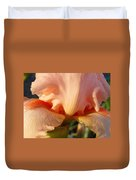 Irises Art Prints Orange Peach Iris Flower Giclee Baslee Troutman Duvet Cover