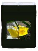 Irises Artwork Iris Flowers Art Prints Flower Rain Drops Floral Botanical Art Baslee Troutman Duvet Cover