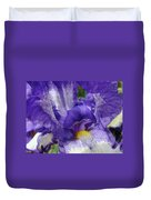 Irises Artwork Purple Iris Flowers Art Prints Canvas Baslee Troutman Duvet Cover