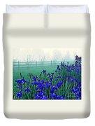 Irises At Dawn 3 Duvet Cover