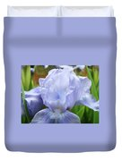 Irises Blue Iris Flower Light Blue Art Flower Soft Baby Blue Baslee Troutman Duvet Cover