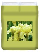Irises Flower Garden Yellow Iris Baslee Troutman Duvet Cover