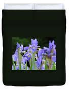 Irises Flowers Art Prints Blue Purple Iris Floral Baslee Troutman Duvet Cover