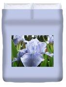 Irises Light Blue Artwork Iris Flowers Baslee Troutman Duvet Cover