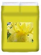 Irises Yellow Brown Iris Flowers Irises Art Prints Baslee Troutman Duvet Cover