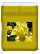 Irises Yellow Iris Flowers Floral Art Prints Botanical Garden Artwork Giclee Duvet Cover