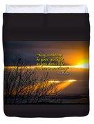 Irish Blessing - May Sunbeams Be Your Spotlight Duvet Cover