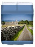 Irish Church Ruins Duvet Cover