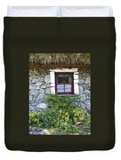 Irish Cottage Window County Clare Ireland Duvet Cover