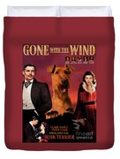 Irish Terrier Art Canvas Print - Gone To The Wind Movie Poster Duvet Cover