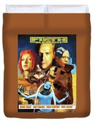 Irish Terrier Art Canvas Print - The Fifth Element Movie Poster Duvet Cover