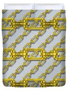 Iron Chains With Brushed Metal Seamless Texture Duvet Cover