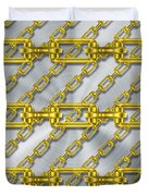 Iron Chains With Brushed Metal Texture Duvet Cover