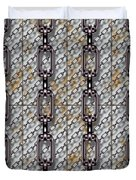 Iron Chains With Metal Panels Seamless Texture Duvet Cover