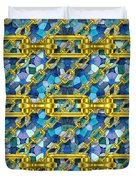 Iron Chains With Mosaic Seamless Texture Duvet Cover