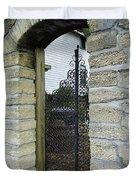 Iron Gate To The Garden Duvet Cover