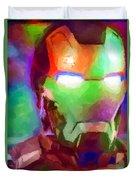 Ironman Abstract Digital Paint 1 Duvet Cover