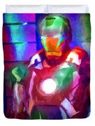 Ironman Abstract Digital Paint 2 Duvet Cover