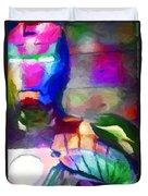Ironman Abstract Digital Paint 3 Duvet Cover