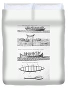 Iroquois Canoes Duvet Cover