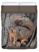 Irritated Squirrel Duvet Cover