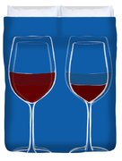 Is The Glass Half Empty Or Half Full Duvet Cover by Frank Tschakert