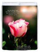 Isaiah 35 V 4 Duvet Cover
