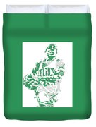 Isaiah Thomas Boston Celtics Pixel Art 15 Duvet Cover