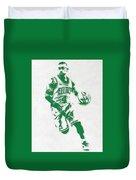 Isaiah Thomas Boston Celtics Pixel Art 2 Duvet Cover