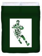 Isaiah Thomas Boston Celtics Pixel Art 5 Duvet Cover