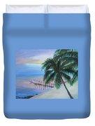 Isla Morada Sunset Duvet Cover