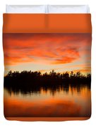 Island At Sunset Duvet Cover