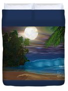 Island Beach Duvet Cover by Corey Ford