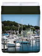 Island Boating Duvet Cover