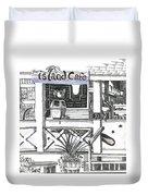 Island Cafe Duvet Cover