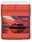 Island In The Fire Duvet Cover