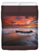 Island In The Storm Duvet Cover