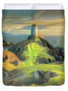 Island Lighthouse Duvet Cover