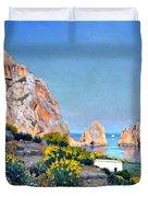 Island Of Capri - Gulf Of Naples Duvet Cover