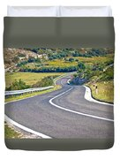 Island Of Pag Curvy Road Duvet Cover