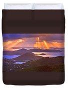 Island Rays Duvet Cover